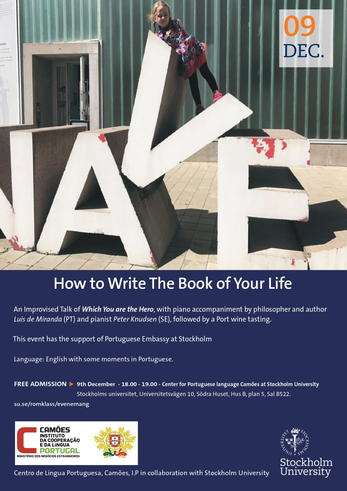 How to Write The Book of Your Life, An Improvised Musical Talk